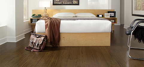 Bamboo offers a distinctive look in a natural hard finish.